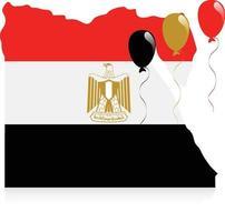 Ägypten Karte Flagge vektor
