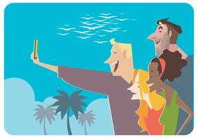 Freundschaft Selfie Vektor