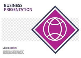 Designvorlage für Geschäftspräsentationen. Perfekt für Broschüren, Marketingwerbung, Infografiken usw. vektor