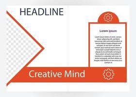 mall för affärsbroschyr. perfekt för broschyrer, marknadsföring, presentation etc. vektor