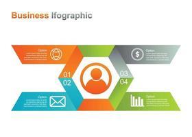 affärsmall infograpic. 4 alternativ infographic vektorillustration. perfekt för marknadsföring, marknadsföring, presentationsdesignelement vektor