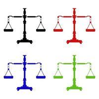Gewichtsskalen-Symbol auf Hintergrund vektor