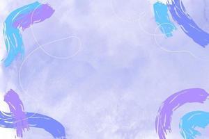 blauer Aquarellhintergrund mit abstrakten Pastellpurpur- und blauen Flecken vektor