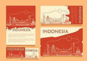 Indonesien-Stolz-Gebäude-Schablonen-Vektor