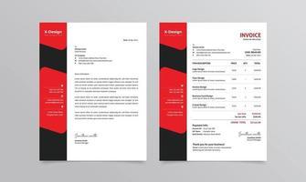 företags affärsmärkesidentitet eller brevpapper och fakturamall vektor