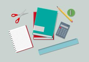 Schulbedarf-Vektor-Illustration