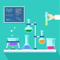 Chemielabor-Vektor