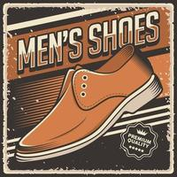 Retro Vintage Herren Schuhe Poster Zeichen vektor