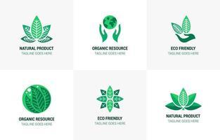 organisches Logo-Schablonendesign des natürlichen Ökosystems vektor
