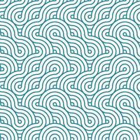 blaue und weiße Streifen, die Textur weben. nahtloses Muster der Wellenlinien des japanischen Stils. Druckblock für Stoff, Bekleidungstextil, Geschenkpapier. minimale orientalische Vektorgrafik. vektor