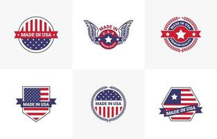 gjord i USA logotyp mall design