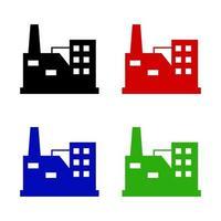 industrisymbol på vit bakgrund vektor