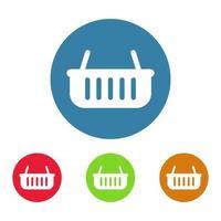 shopping korg ikon på vit bakgrund vektor