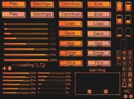 UI spielfertige Elemente gesetzt. vektor