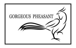 Logo des Fasans, der geht eps 10 vektor