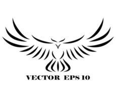 Falke, der fliegt eps 10 vektor