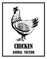 Hühnertiervektor eps 10 vektor