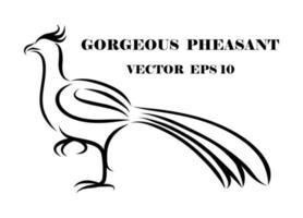 Fasan eps 10 vektor
