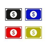 Dollarsymbol auf weißem Hintergrund vektor