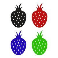 jordgubbar ikon på vit bakgrund vektor