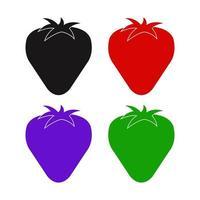 Erdbeersymbol auf weißem Hintergrund vektor