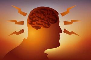 en fungerande hjärna vektor