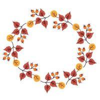 Herbstlaubkranz vektor