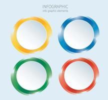 Infografiken Design Vektor mit 4 Optionen, Schritten oder Prozessen.