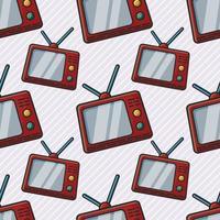 analog tv-sömlös mönsterillustration vektor