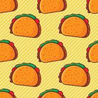 tacos mat sömlösa mönster illustration vektor