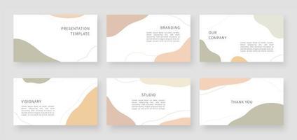 moderna presentationsmallar. mall för företagspresentation och design av sidlayout. vektor illustration.