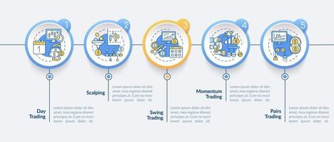 Handelsstrategien Vektor Infografik Vorlage