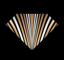 abstrakter Diamantschmuck Gold und Silber vektor