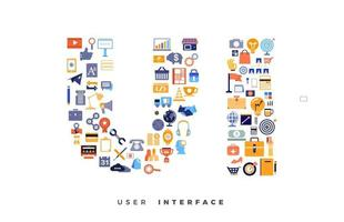 UI-Icon-Collage vektor