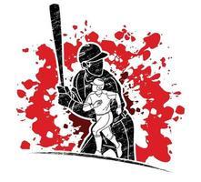 Baseballspieler Aktion vektor
