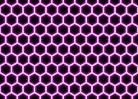 abstrakter geometrischer rosa Sechseck nahtloser Musterhintergrund vektor