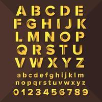 gelbe Schriftart eingestellt vektor