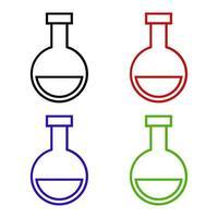 laboratoriekolvsymbol på vit bakgrund vektor