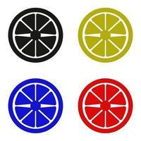 Zitronensymbol auf weißem Hintergrund vektor