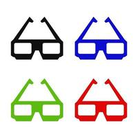 Kino Brille Symbol auf Hintergrund vektor