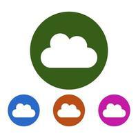 Wolkensymbol auf Hintergrund vektor