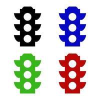 Ampelsymbol auf weißem Hintergrund vektor
