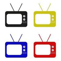 Fernsehikone auf weißem Hintergrund vektor