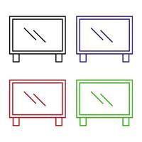 TV-ikon på vit bakgrund vektor