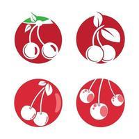 Kirsch-Logo-Bilder vektor