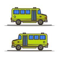 Schulbus-Symbol auf Hintergrund vektor