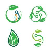 eco tech logo design vektor