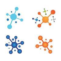 Molekül-Logo-Design vektor
