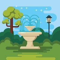 Brunnen-Illustration vektor