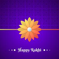 Schönes traditionelles Rakhi-Blumenmuster verzierte Hintergrund vektor